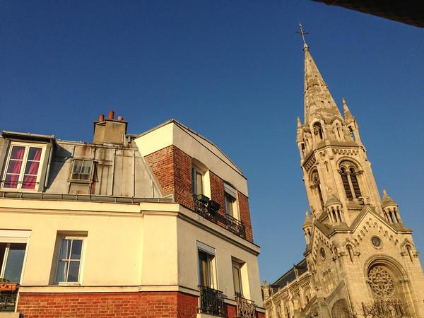 Notre-Dame-de-la-Croix cathedral in Menilmontant, Paris