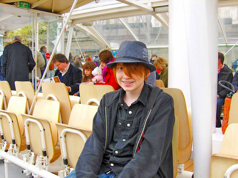 Stephen taking a boat tour of the Seine