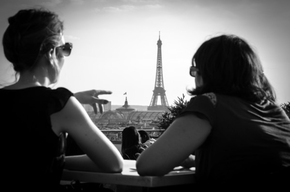 View from the roof of the Printemps department store in Paris