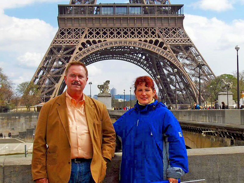 Phil and Teresa by the Eiffel Tower