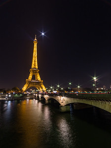 Eiffel At Night Vert