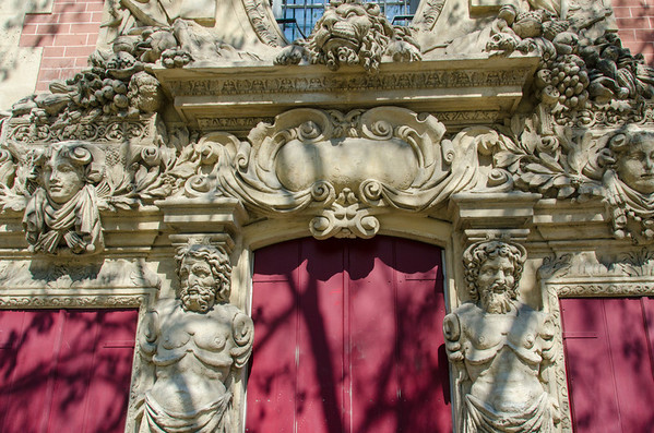 Ornate doorway in Paris