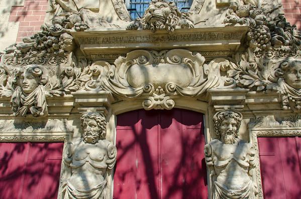 Ornate doorway in Paris