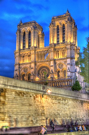 Notre Dame Cathedral at Nite