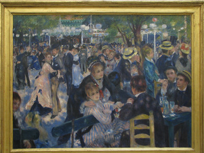 Bal du Moulin de la Galette    by Renoir.  We saw Renoir, Degas, Van Gogh, Monet and others.