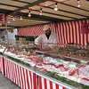 The butcher at the Bastille outdoor market.  There wasn't anything you couldn't buy here.