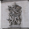 Incredible detail in the carvings on the Arc de Triumph.