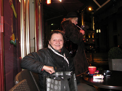 Another french person that Larry collected on our trip.  Take notice of Cruella de Ville in the background.  The french love their cigarettes.