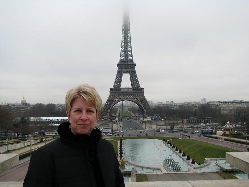 First day in Paris - a bit foggy and we couldn't see the top of the Eiffel Tower.  It did appear later in the day.