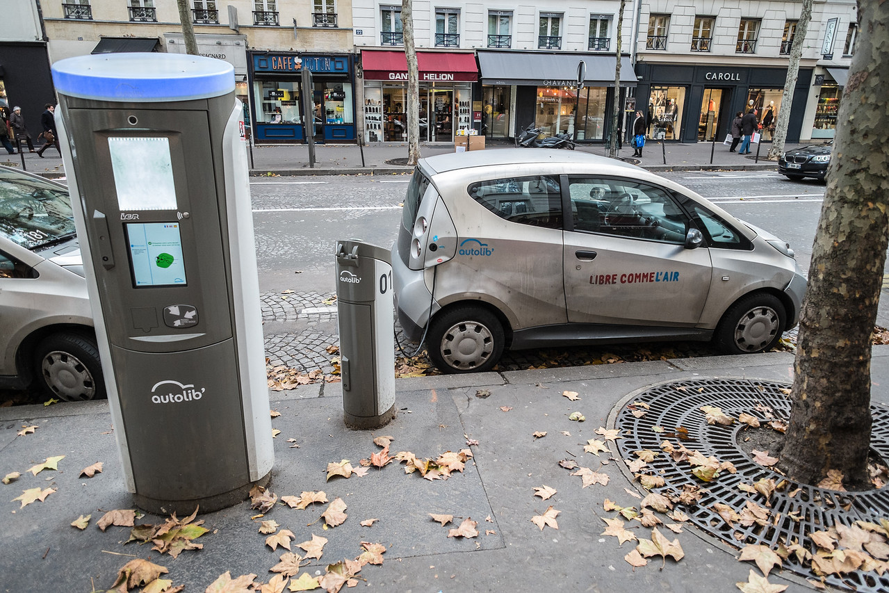 Electric car charging stations.