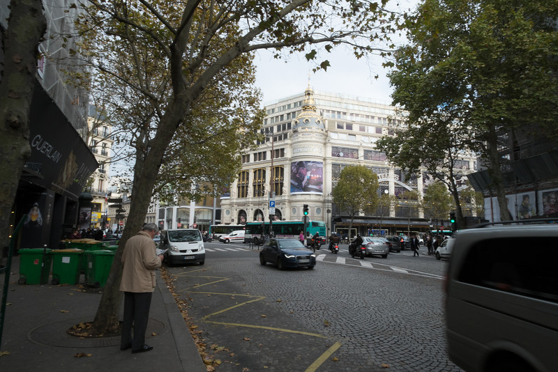 Not on the Champs Elysees, but high end shopping none the less.  Printemps and Gallery Lafayette both occupy more that a city block each and have huge crowds.