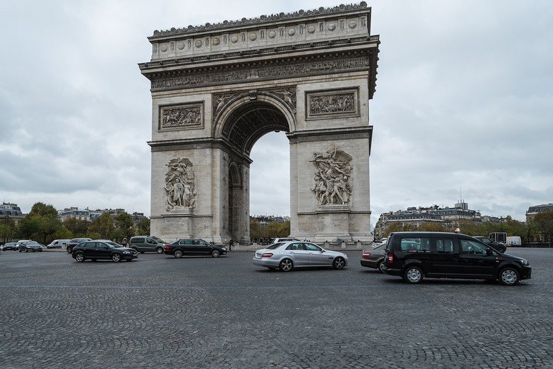 The Arc de Triomphe was commissioned by Napoleon in 1806 and finished in 1840, just in time for Napoleon's body to pass through it on the way to his final resting place.