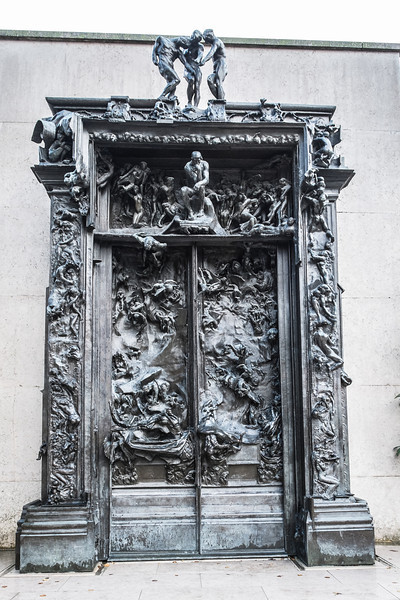 """Rodin's depiction of Dante's """"The Gates of Hell""""."""