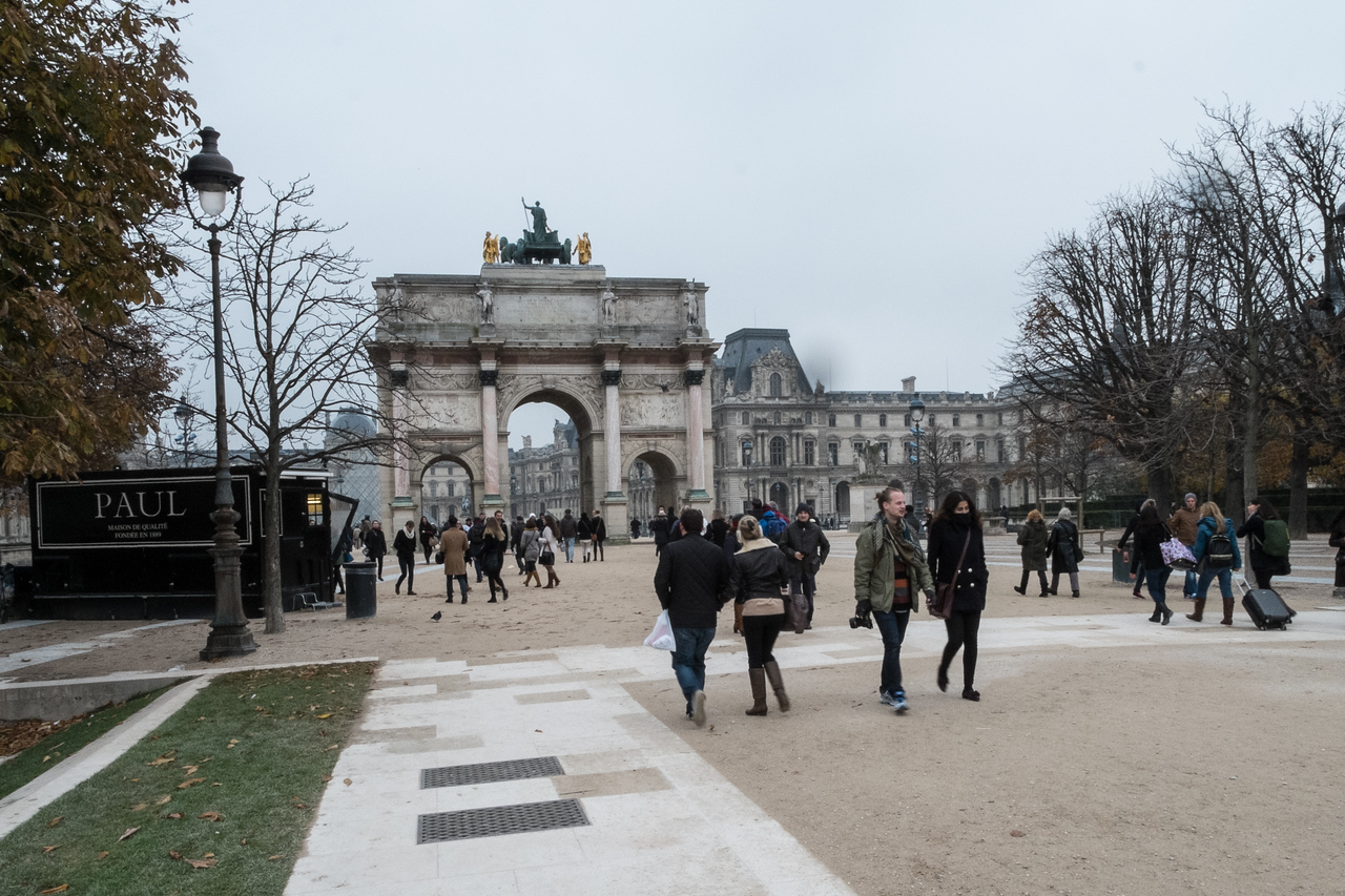 This walk to the Louvre is the beginning of the Champs Elysee's.