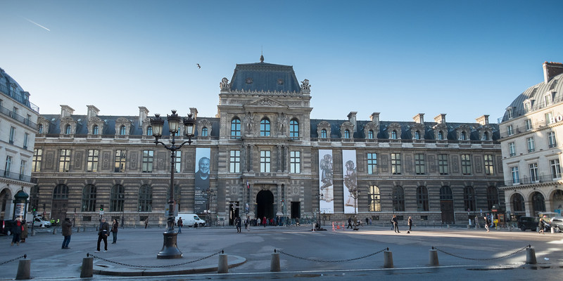 The Louvre Museum is one of the largest museums in the world, and one of the largest buildings.