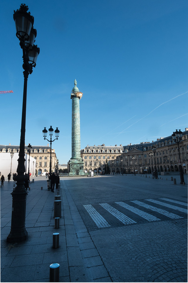 Place Vendome is a square laid out in 1702 as a monument to the armies of Louis XIV.