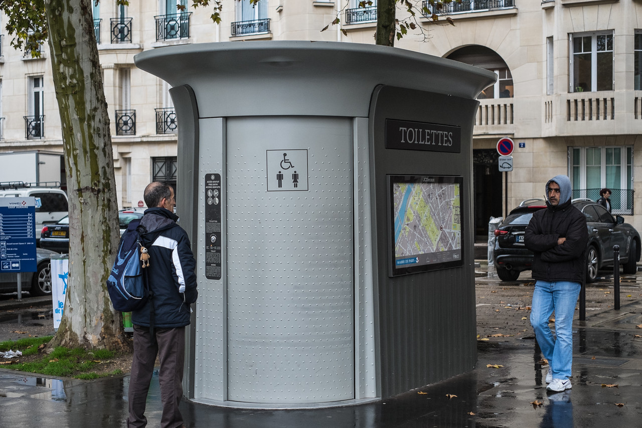 A free toilet that is self cleaning after each use, or so it says.