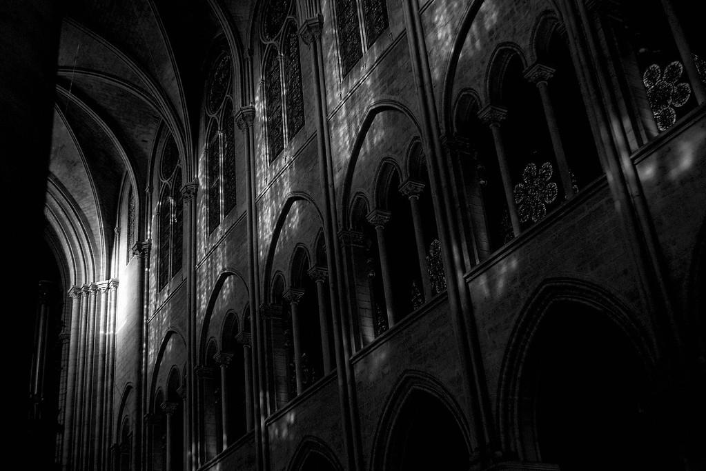 Notre Dame Shadows<br /> Paris<br /> 2013