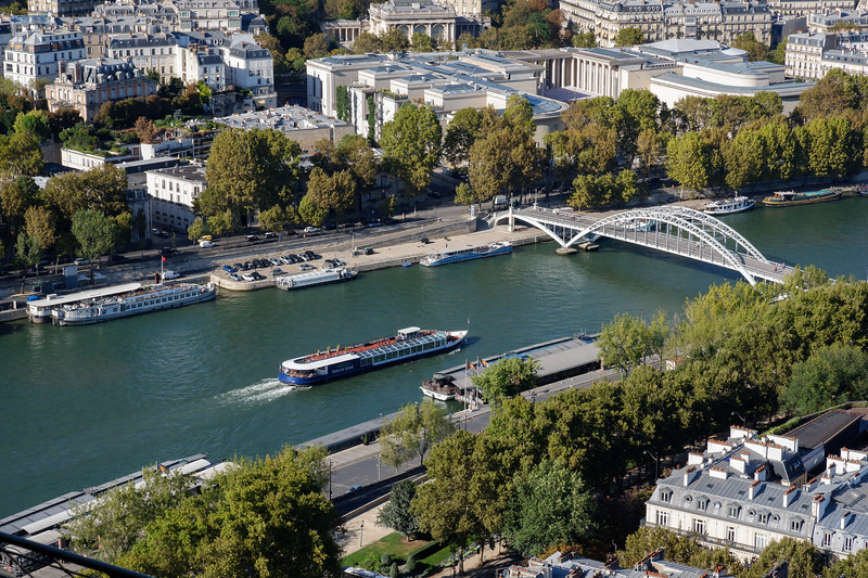 La Seine<br /> from le Tour Eiffel<br /> 7th arr.<br /> September 2018