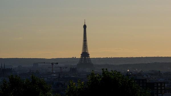 Tour Eiffel from le Belvédère de Belleville Parc de Belleville 20th arr. September 2018
