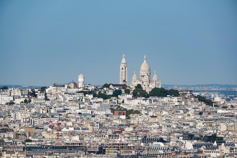 Basilique du Sacré-Cœur de Montmartre<br /> from le Tour Eiffel<br /> 7th arr.<br /> September 2018