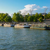 Boats on River Seine in Paris