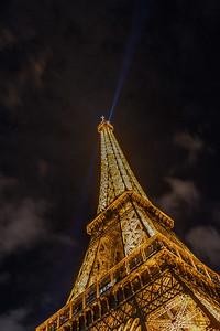 Eiffel Tower at Night - Long Exposure