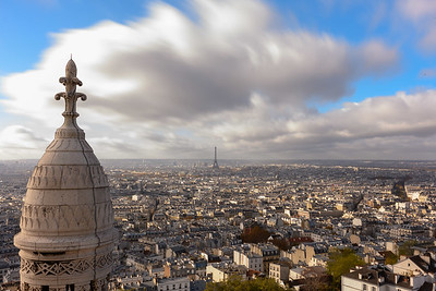 Eiffel Tower view from Montmartre