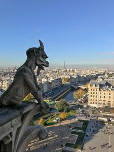 Spitting Gargoyle - Notre Dame Cathedral Paris