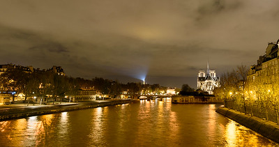 Evening Glow the Seine and Notre-Dame