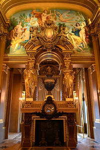 Paris Opera House - Grand Foyer Fireplace