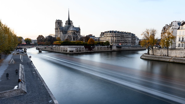 Notre Dame and River Seine Long Exposure