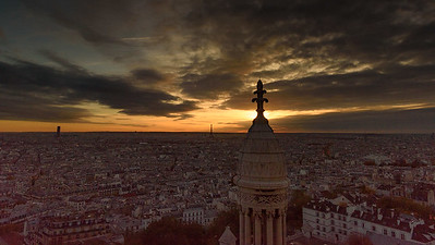 View of Paris at Sunset from Sacre-Coeur Basilica