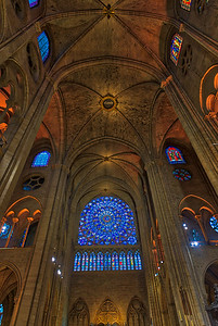 The North Rose Window at Notre-Dame