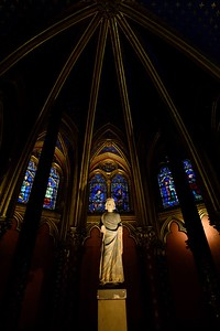 Sainte-Chapelle's Virgin Mary  in the Lower Chapel