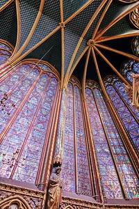Sainte-Chapelle - King's Chapel Stained Glass Panel