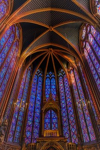 Sainte-Chapelle Kings Chapel Satined Glass