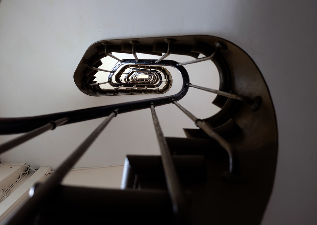 . apartment staircase, Paris. Photo by Shmuel Thaler