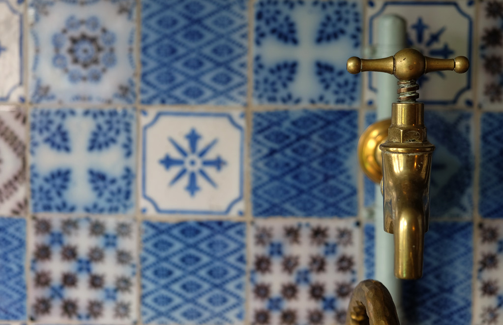 . A kitchen faucet in artist Claude Monet\'s house in Giverny, France. Monet lived here from 1883 until his death in 1926. Many of his paintings were painted in Giverny, the village where his home is located, especially in his own gardens.  Photo by Shmuel Thaler