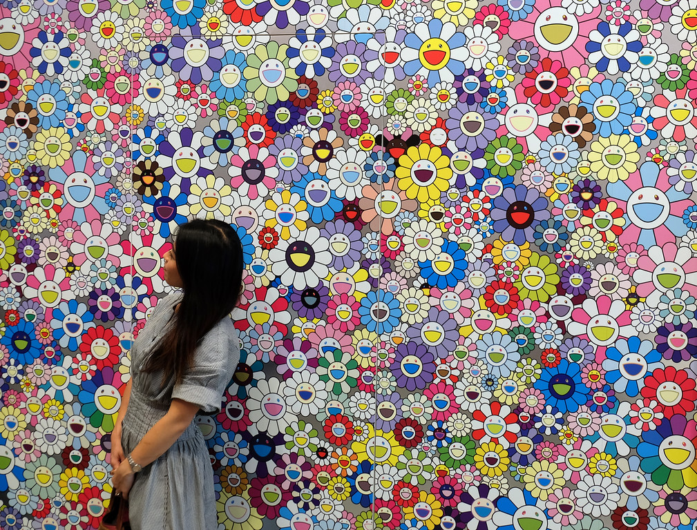 . An exhibit of Japanese artist Takashi Murakami at Foundation Louis Vuittony in Paris. Photo by Shmuel Thaler