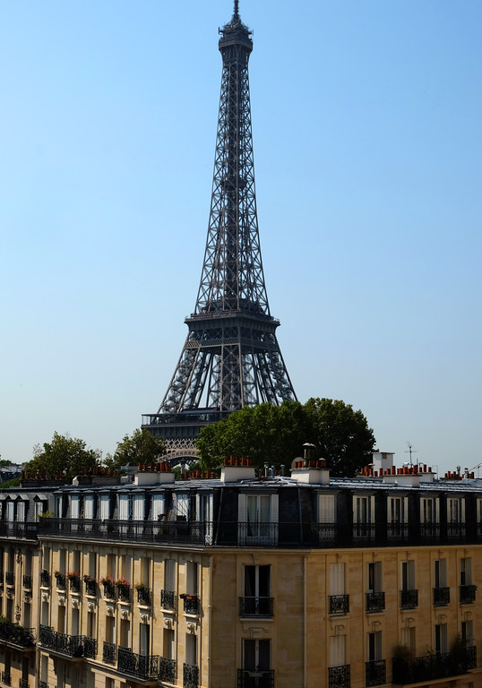 . Eiffel Tower seen from Avenue du President Wilson. Photo by Shmuel Thaler