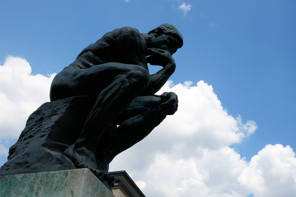 ". ""The Thinker\"" at Musée Rodin in Paris. Photo by Shmuel Thaler"