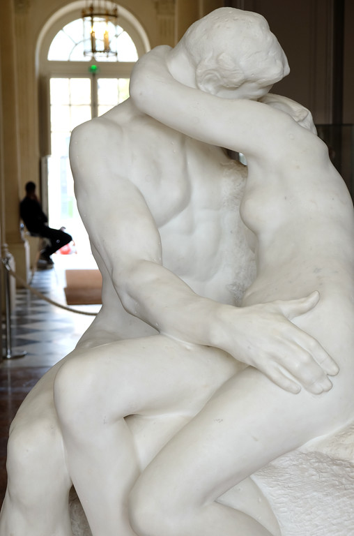 ". ""The Kiss\"" at Musée Rodin in Paris. Photo by Shmuel Thaler"