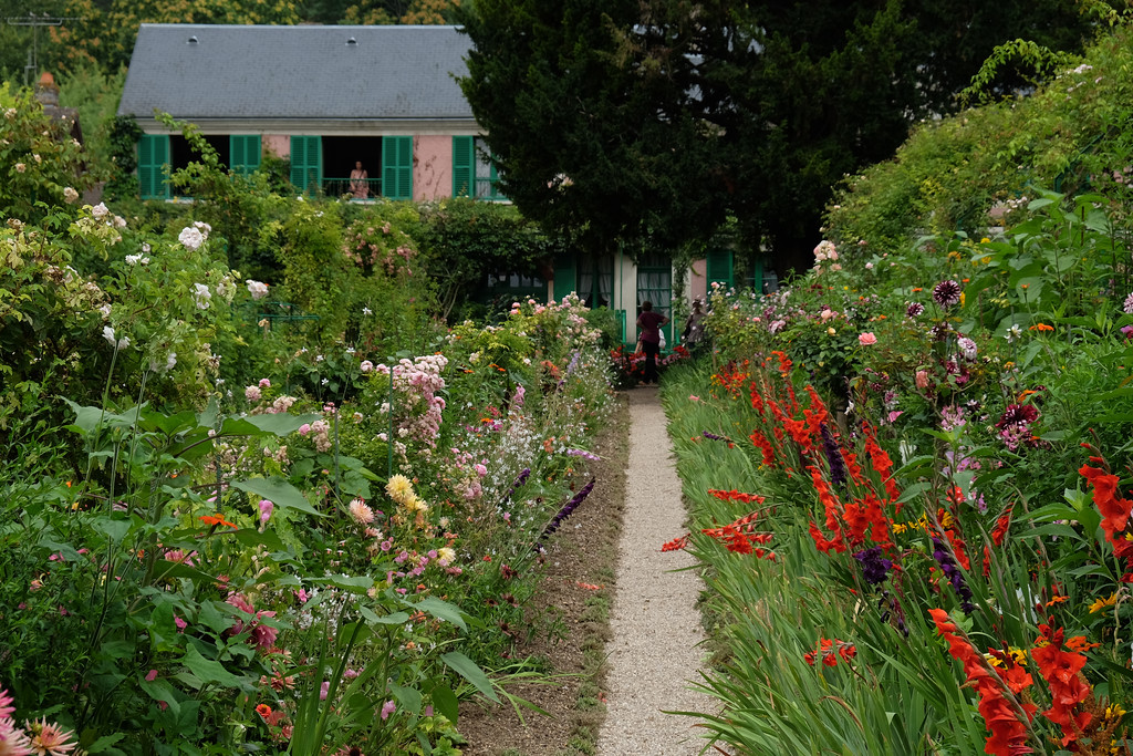 . Claude Monet\'s  garden in Giverny, France.  Monet, the founder of French Impressionist Painting lived here place from 1883 until his death in 1926. Many of his paintings were painted in Giverny, the village where his home is located, especially in his own gardens.  Photo by Shmuel Thaler