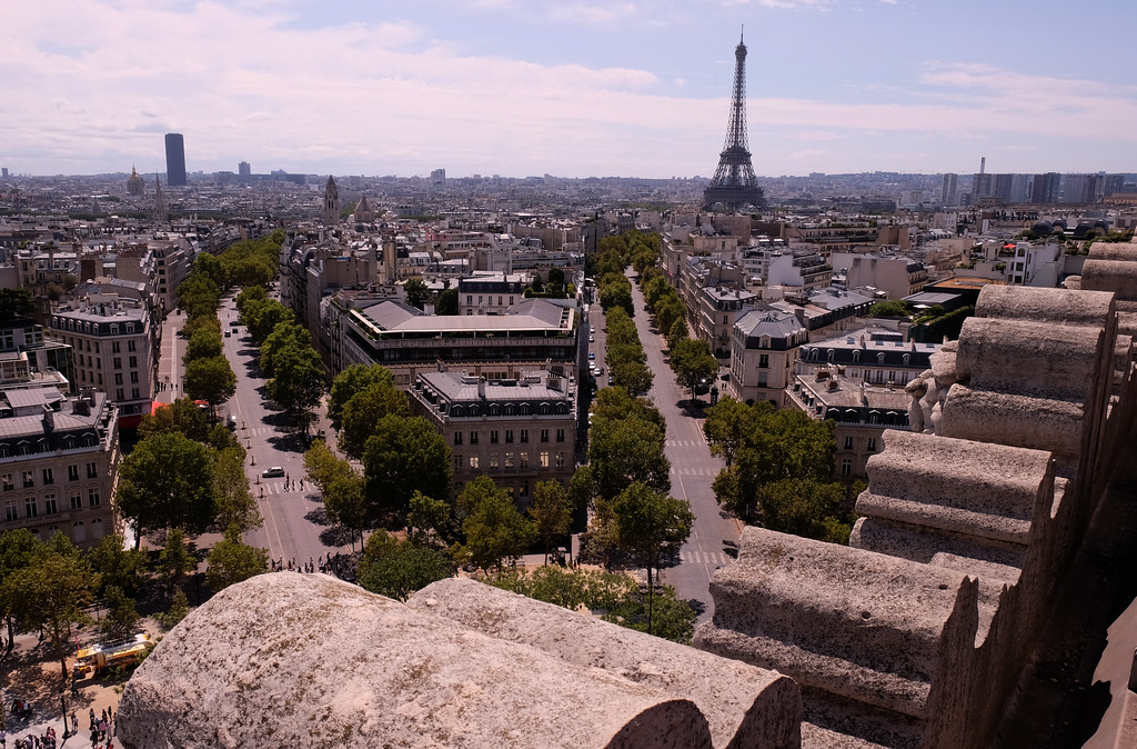 . Paris seen from the top of the Arc de Triomphe Photo by Shmuel Thaler