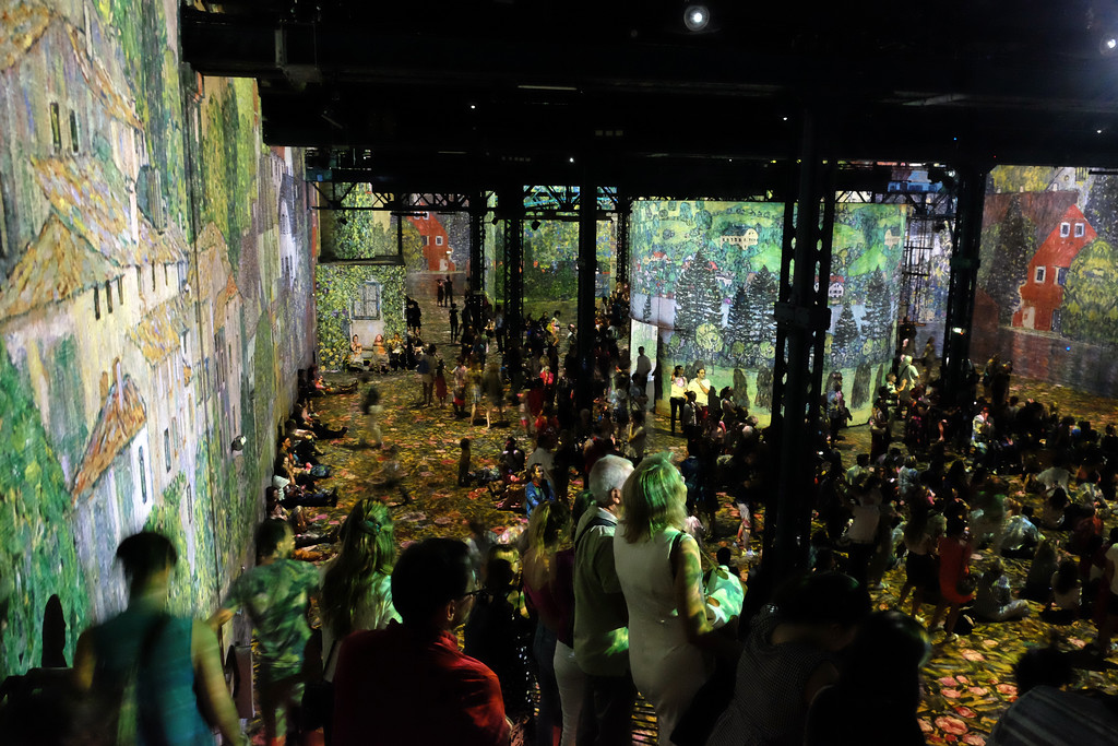 . Immersive multimedia experience on the work of Gustav Klimt at L�Atelier des Lumières, a new digital museum in Paris�s 11th arrondissement. Photo by Shmuel Thaler