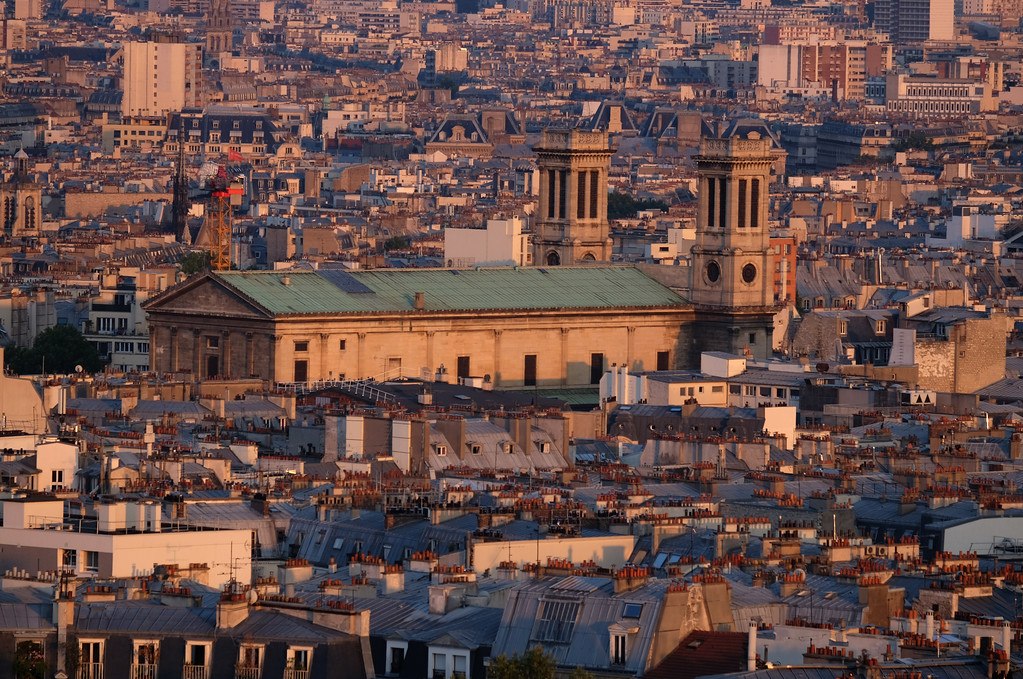 . View of Paris from Sacré-C�ur.  Photo by Shmuel Thaler