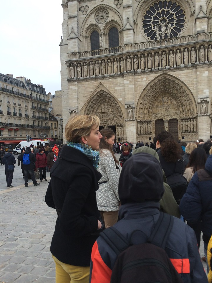 In line at Notre Dame -- Sunday afternoon