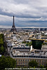 Eiffel Tower from top of Arc de Triomph
