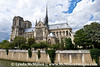 Notre Dame Cathedral from the Seine River.